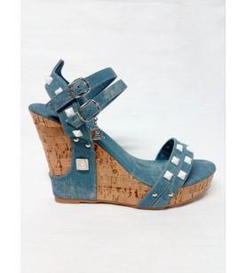Rifľové sandále Laura...