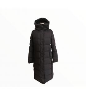 Čierna dlhá bunda Rockandblue