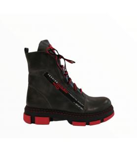 Sivé členkové topánky LA PINTA