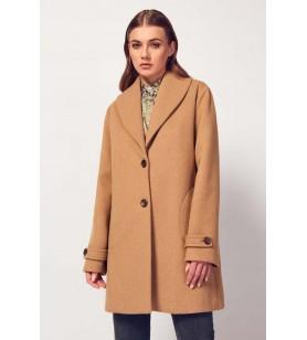 Hnedý krátky kabát CANNELLA