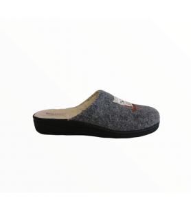 Sivé sovičkové papuče