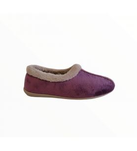 Fialové dámske papuče