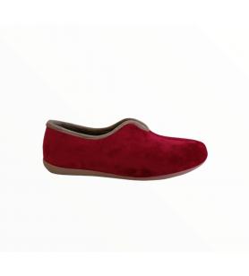 Malinové dámske papuče