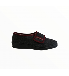 Tmavošedé dámske papuče